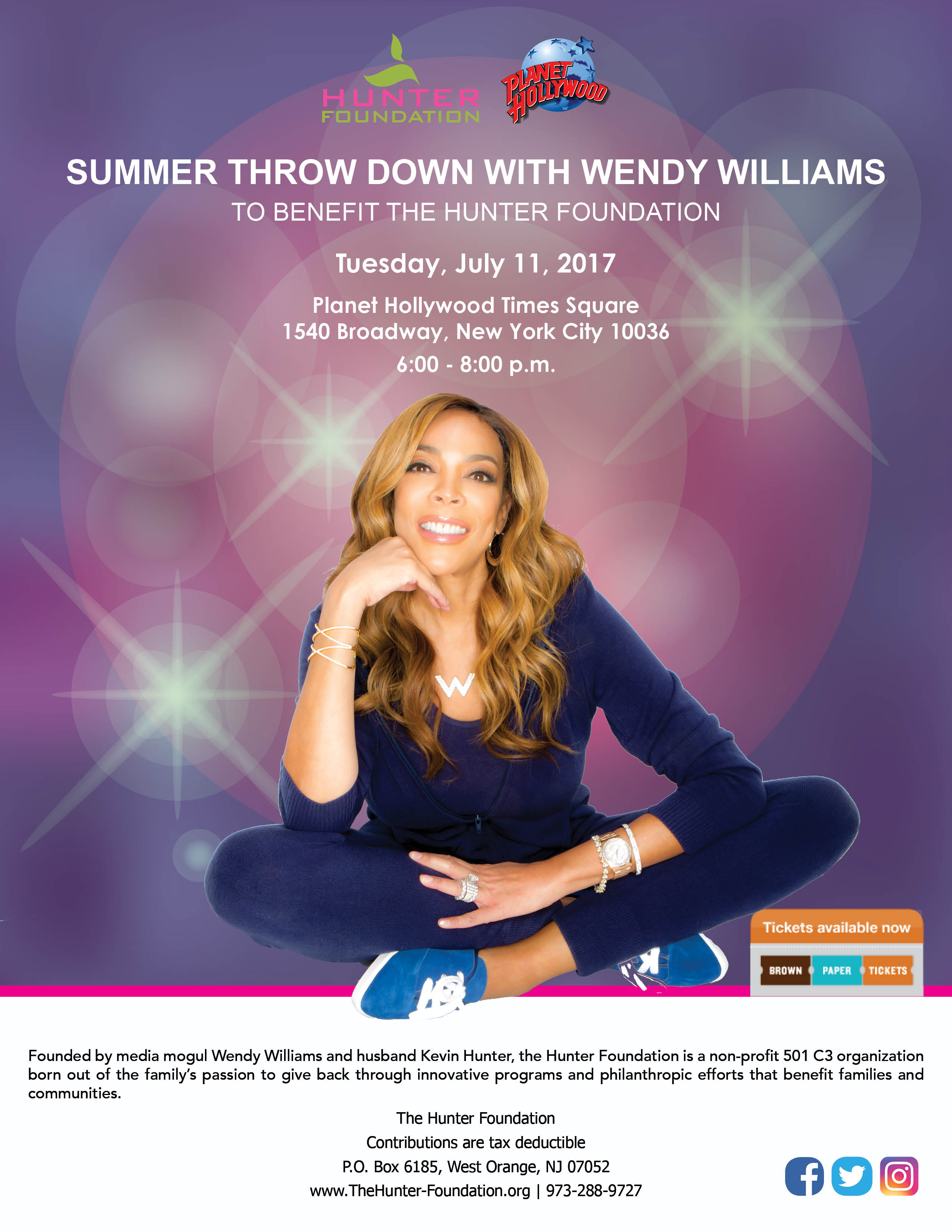 Wendy Williams x Planet Hollywood Invite & Sponsorships